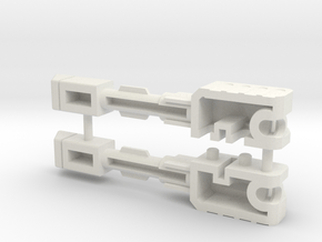 Downforce-5a in White Natural Versatile Plastic