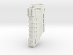 HALO. UNSC Pillar of Autumn 1:3000 (Part 2/3) in White Natural Versatile Plastic