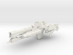 HALO. UNSC Paris Class Frigate 1:3000 in White Natural Versatile Plastic