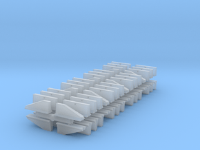 Jersey Barrier short set (x64) 1/400 in Smooth Fine Detail Plastic