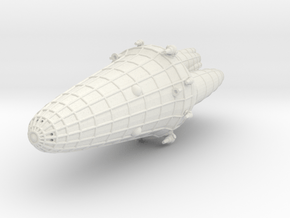 Triplanetary League Frigate in White Natural Versatile Plastic