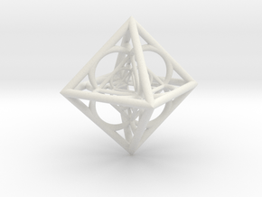 Nested octahedron in White Natural Versatile Plastic