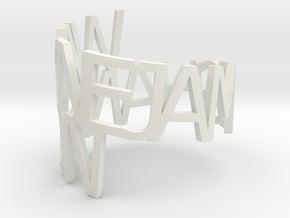 Wayne Hanson in White Natural Versatile Plastic