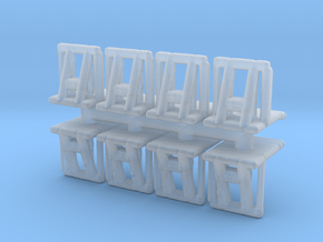 Crowd barrier (x8) 1/200 in Smooth Fine Detail Plastic