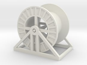 1:50 Cable Reel Empty w stand in White Natural Versatile Plastic