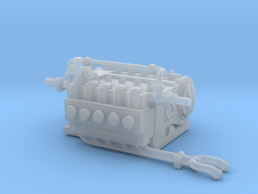 1/64th Q10 type Hydraulic Fracturing Pump Unit in Smooth Fine Detail Plastic