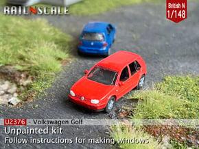 Volkswagen Golf 5 door (British N 1:148) in Smooth Fine Detail Plastic