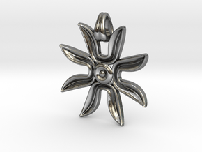 Flower power ! [pendant] in Polished Silver