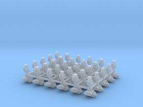 Warhammer Skaven Acolyte Bits 30 Heads n Backpacks in Smooth Fine Detail Plastic