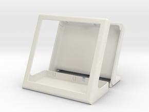 Case for HyperPixel 4.0 Square Touch (Pi zero) in White Natural Versatile Plastic