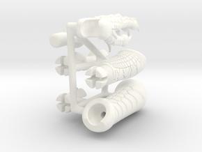 Lizardman Left Arm in White Processed Versatile Plastic