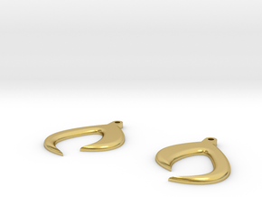 Claw (Earring Charm) in Polished Brass
