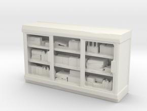Shop Interior Beverage/Food Fridge 1:87 / 1:64 in White Natural Versatile Plastic: 1:87 - HO