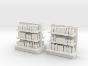 Shop Interior Merchandise Shelf Set 1:87 / 1:64 in White Natural Versatile Plastic: 1:64 - S