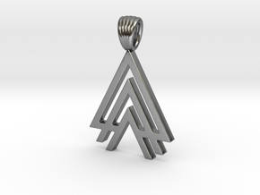 Tritriangles [Pendant] in Polished Silver