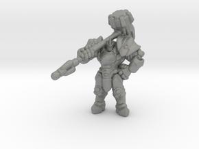 OW Reinhardt miniature model rpg dnd fantasy hero in Gray PA12