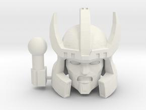 Galvatron TR Head in White Natural Versatile Plastic: Medium