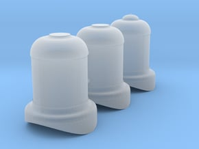 United Verde & Pacific #5 domes in Smooth Fine Detail Plastic