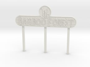 Modern Bamboo Forest Sign in White Natural Versatile Plastic