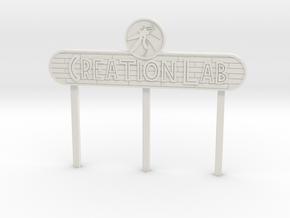 Modern Lab Sign in White Natural Versatile Plastic