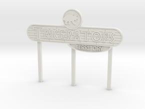 Modern Ceratopsian Territory Sign in White Natural Versatile Plastic
