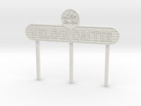 Modern Raptor Coaster Sign in White Natural Versatile Plastic