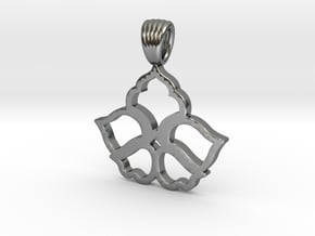 Flowers [Pendant] in Polished Silver