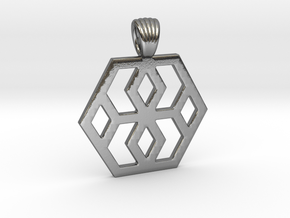 Hexagons [Pendant] in Polished Silver
