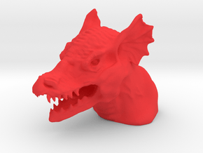 Dragon Bust in Red Processed Versatile Plastic