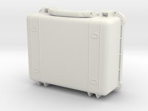1:6 Miniature Pelican 1550 Waterproof Case in White Natural Versatile Plastic