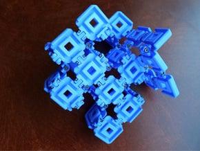 Hyperbolic 29 puzzle (Frame) in Blue Processed Versatile Plastic