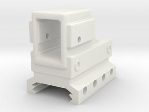 Devastator Micro Reflex Sight for Picatinny Rail in White Natural Versatile Plastic