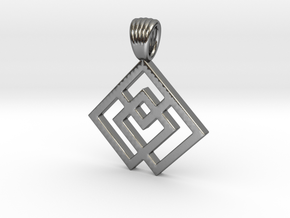 Squares [pendant] in Polished Silver