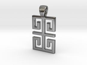 Greek style shape [Pendant] in Polished Silver