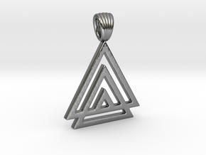 Three-tri [Pendant] in Polished Silver