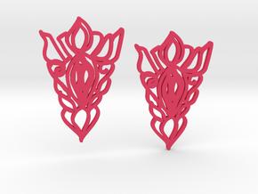 Statement Earrings Boho Chic in Pink Processed Versatile Plastic
