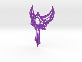 Boho Statement Necklace in Purple Processed Versatile Plastic