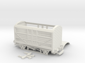 HO/OO RWS cattle truck Bachmann in White Natural Versatile Plastic