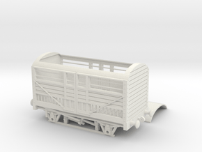 HO/OO RWS cattle truck chain in White Natural Versatile Plastic