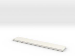 Tile 2x12 in White Natural Versatile Plastic