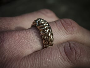 RD Ring  Size J (15,4- 15,6mm) in Polished Bronze