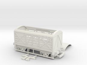 HO/OO GWR Milk Van v2 Bachmann in White Natural Versatile Plastic