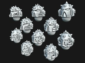 Studed Marine Helmets in Smooth Fine Detail Plastic: Small