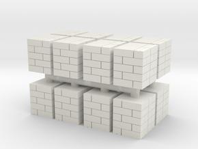 48x40in Pallet Box Load (x16) 1/285 in White Natural Versatile Plastic