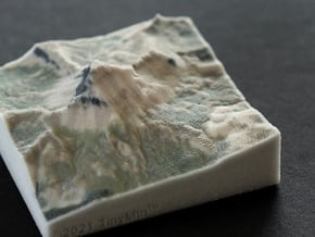 Uncompahgre Peak, Colorado, USA, 1:50000 in Natural Full Color Sandstone