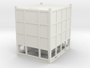 1/64th SandBox Hydraulic Fracturing Sand Box in White Natural Versatile Plastic