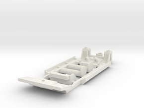 Chassis for Scalextric Ford Escort Mk1 (classic) in White Natural Versatile Plastic