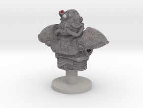 Power armor bust TEST in Natural Full Color Sandstone
