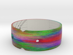 "Sundial Bangle 45N 3.1"" in Natural Full Color Sandstone"