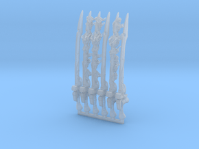 Space Circus Flame Swords in Smooth Fine Detail Plastic